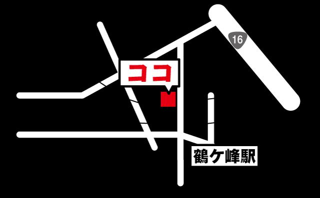 サニタ鍼灸整骨院鶴ヶ峰店マップ